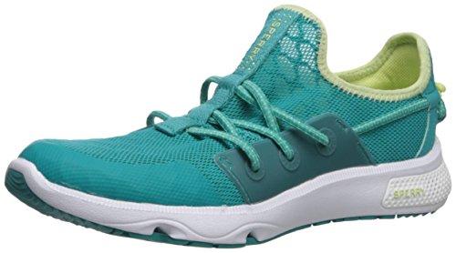 Sperry Women's 7 Seas Bungee Sneaker, Green/Lime, 7 Medium US