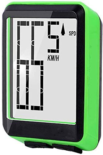 Velocímetro De Bicicleta, Computadora De Bicicleta Inalámbrica Gran Computadora De Bicicleta Digital...