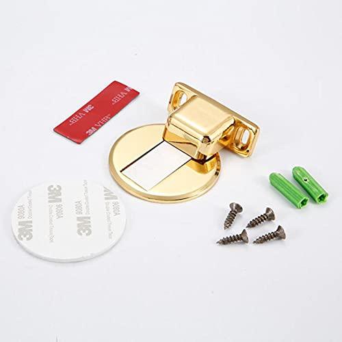 ZHHRHC Tope de puerta oculto de acero inoxidable Tope de puerta magnético de aleación Marco de puerta no perforado Tope de puerta magnético Herrajes para puertas de muebles