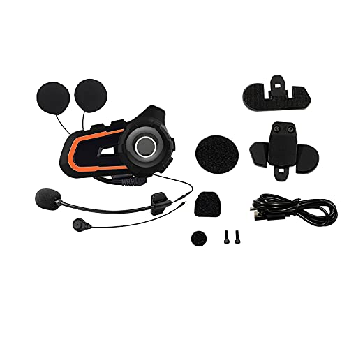 Helmet Bluetooth Headset Motorcycle Intercom Communication System with Stereo Music Universal Microphone Handsfree Waterproof Outdoor Sports Bluetooth Stereo Headset