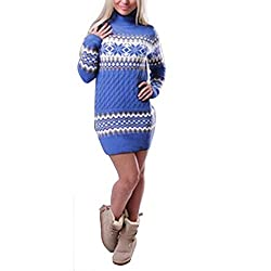 Material : COTTON Features - Women ladies lovely jumpers, christmas patterns includes reindeer, snowflakes and so on, round neck, long sleeve and knitted ribbed. Stylish cute loose fit sweaters. Warm and breathable. Fashion sweater for women - Due to...