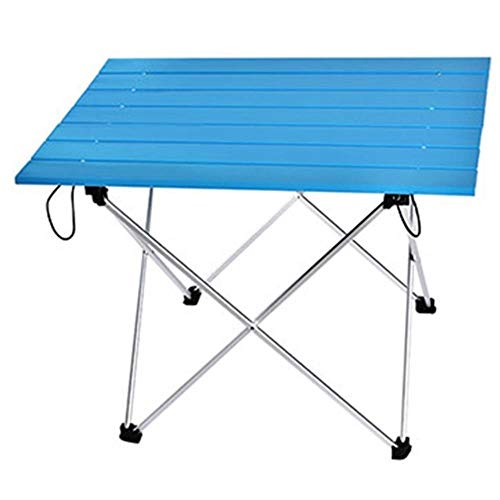 Rain Portable table folding camping hiking table travel outdoor picnic aluminum,Blue