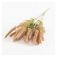 造花 人工植物ラベンダーの小麦の耳の家の装飾クリスマス工芸品の花 (Farbe : Schokolade)