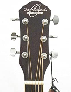 Oscar Schmidt OG10CE - Guitarra acústica eléctrica de 6 cu