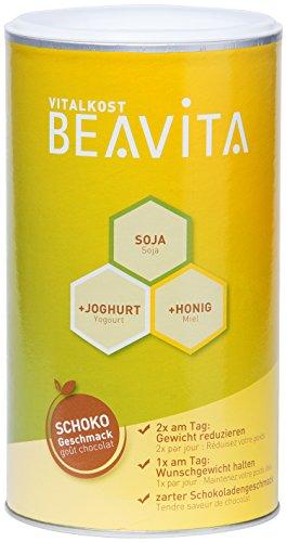 BEAVITA Vitalkost -Geschmack Schokolade - 1x 500g Pulver - feiner Eiweiß-Diät Shake - Mahlzeitenersatz reicht für 9 Shakes - Schoko Flavor - Kalorien sparen - glutenfrei mit 209 kcal pro Shake