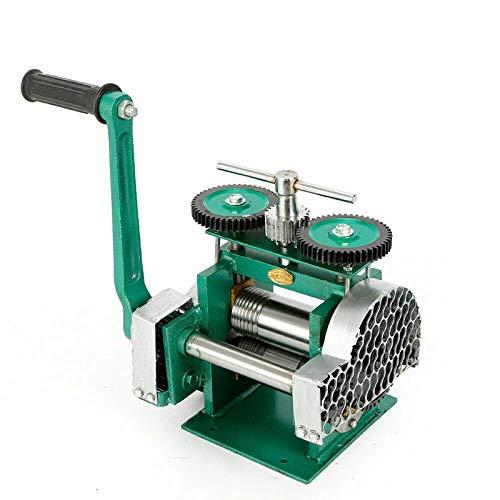 TFCFL Manual Rolling Mill Machine, Combination Rolling Mill Machine Jewelry Press Tabletting Tool Jewelry DIY Tool Make Sheet Wire Flat (85mm)