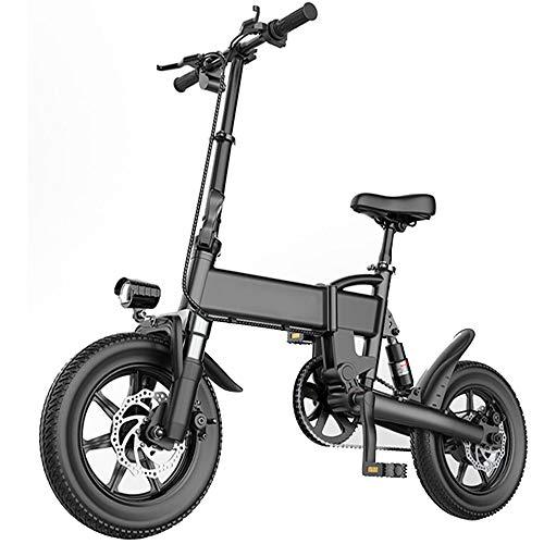 DREAMyun Bicicleta Eléctrica Plegables, 250W Motor Bicicleta Plegable 25 km/h Bici Electricas Adulto con Ruedas de 14