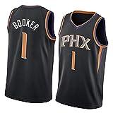 Camiseta de Baloncesto Booker # 1 para Hombre, Camiseta sin Mangas con Uniforme de Fitness, Camisetas de competición Superiores, el Mejor regalo-2-S