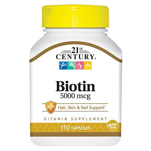 21st Century Biotin 5000 mcg Capsules, 110 Count