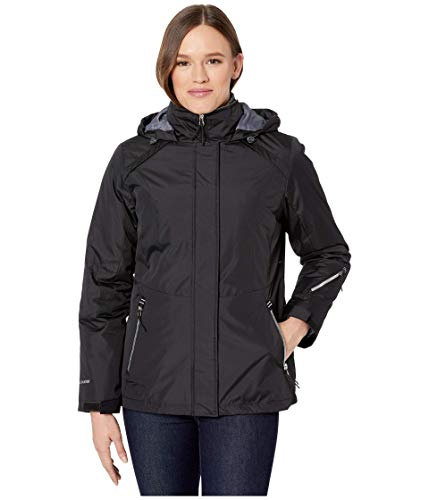 Free Country 3-in-1 Systems Jacket with Detachable Hood Black LG