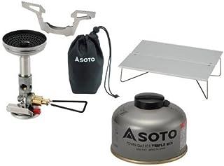 SOTO 3点セット マイクロレギュレーターストーブウィンドマスター パワーガス105トリプルミックス ミニポップアップテーブルフィールドホッパー ソト SOD-310 SOD-710T ST-630