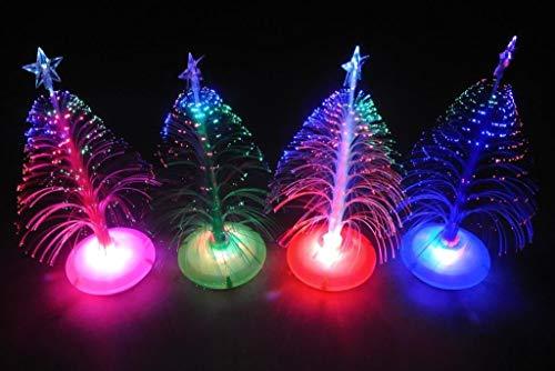 Decoración de luz LED de la noche del árbol de Navidad de la fibra óptica multicolor