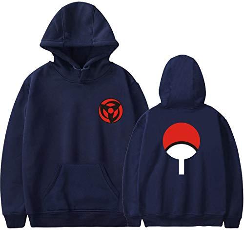 PANOZON Sudadera Naruto para Niños Impresíón de Raqueta Chaqueta con Bolsillo para Boys Chicos Adolescentes Jóvenes (S, Marina Azul-5)