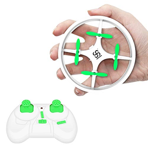 Mini Drones for Kids and Beginners Training RC Nano Quadcopter Indoor Small UFO Helicopter Toys with Altitude Hold, Headless Mode, One Key Return, Speed Adjustment, LED Lights, White
