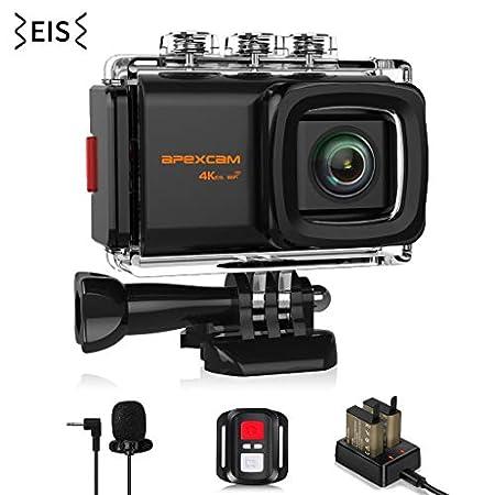 【限定14】Apexcam SONYイメージセンサー採用Wifi搭載4Kアクションカメラ M80 EIS バッテリー2個セット 3,383円送料無料!