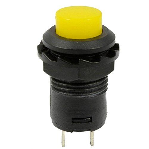 10Pcs Yellow 12mm Momentary Push Button Switch Horn 125V/3A Doorbell Car 12V