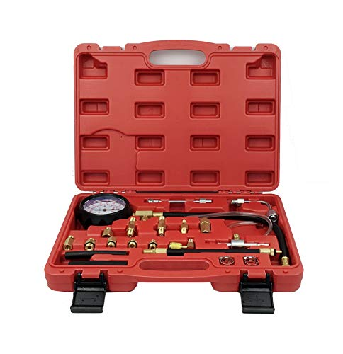 ThreeH Kit per misurare la pressione dell'olio motore, misuratore della pressione dell'olio della benzina dell'auto, manometro per carburante 0 – 140 PSI MA03