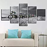 GHTAWXJ 5 Panels HD Print Modern Home Decoration Poster