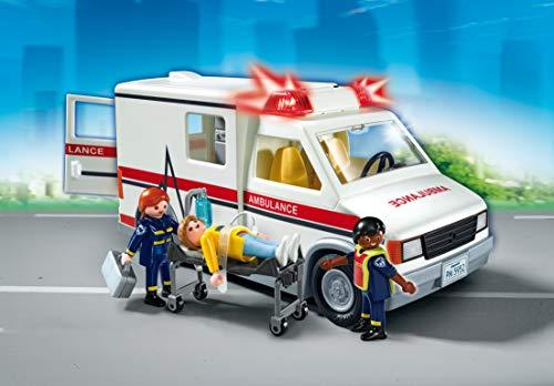 Ambulance Playmobil Secours - 5681 Ambulanciers et Patient Blessé - 4