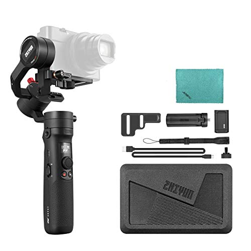 Zhiyun Crane-M2 Compact 3-Axis Handheld Gimbal Stabilizer Wireless WiFi BT Connection MAX. Load 0.72kg/ 1.6Lbs for Sony A6000/A6300/A6400/A6500 for Canon M6/ PowerShot G7 X Mark II