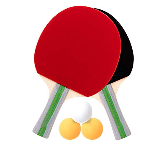 Tafeltennis Racket Tafeltennis Racketset 2 Schoten 3 Ballen Briefpapier Krasvrij Volwassene Verdikken Oefening Kinderen Sport Hoge Kwaliteit Houten Binnen Buiten Sport