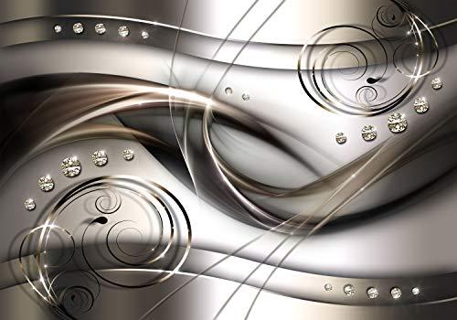 decomonkey Fototapete Abstrakt 350x256 cm XL Tapete Fototapeten Vlies Tapeten Vliestapete Wandtapete moderne Wandbild Wand Schlafzimmer Wohnzimmer Diamant Ornament