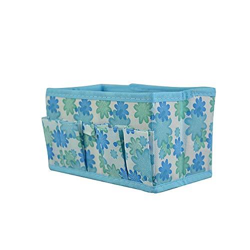 Delikat Kosmetische Aufbewahrungsbox Faltbare Kosmetiktasche Organizer Faltbare Desktop-Schmuck Multifunktionale Stationäre Container blau Neu Freigegeben und Beliebt