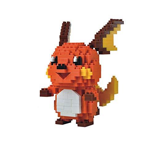 HHtoy Raichu Animado Elf Mini Modelo 3D Puzzle Edificio del Rompecabezas, Pokemon Modelo 355 Piezas del Bloque Hueco, DIY Modelo Educativo de Dibujos Animados Los niños de Juguete de Regalo