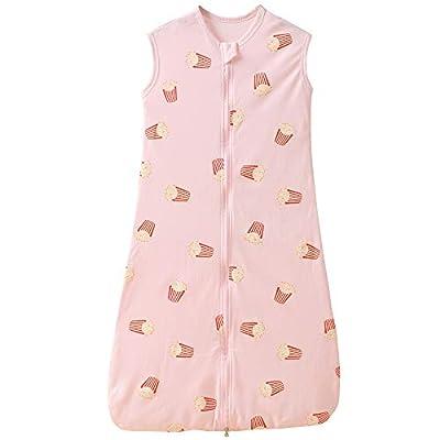 Gigoteuse d'été fine pour bébé fille garçon printemps nouveau-né coton pyjama – 0,5 Tog. (110 cm (18-36 mois), frites roses)