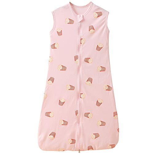 Schlafsack Baby Sommer dünner mädchen Junge Frühling neugeboren Baumwolle Schlafanzug - 0.5 tog. (110CM (18-36 Monate), Rosa Pommes frittes)