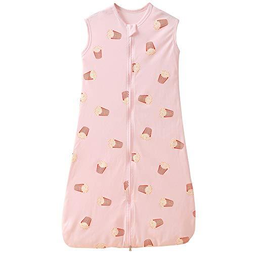 Saco de dormir para bebé, verano, para niña, primavera, recién nacido, de algodón, 0,5 tog. (110 cm (18-36 meses), patatas fritas rosas)