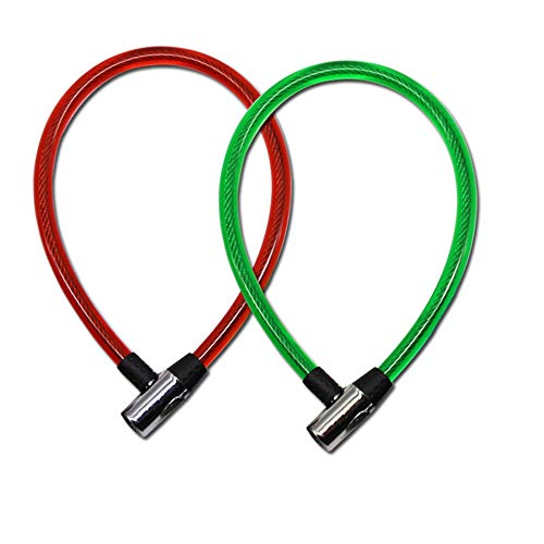 Vlook 2pcs Fahrradschlösser Kabelschloss, 14MM Stahldrahtschlösser mit 2 Schlüsseln, Multifunktions Bequem und sicher, einfach zu bedienen, für die meisten Fahrräder