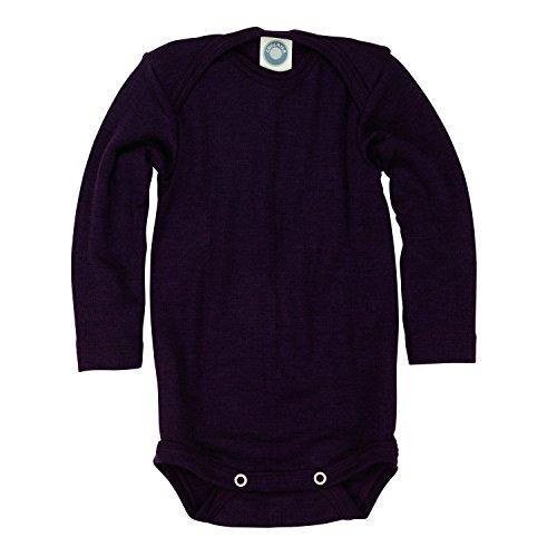 Cosilana baby - Body para bebés de lana/seda de Wollbody morado 98 cm/104 cm