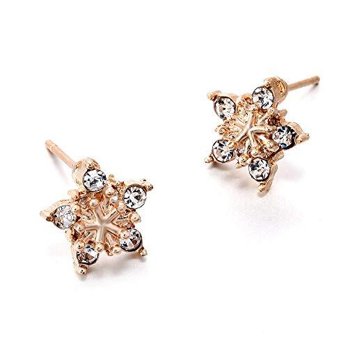 Erin Earring Moda Coreana De Las Mujeres Lindas De Cristal De Diamantes De Imitación De Copo De Nieve Pendientes De La Joyería