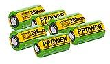 6 pilas recargables de 3 V para cámara Polariod, 200 mAh, CR2, 15270, 15266, LiFePO4, para cámara Polariod, telémetro de golf Bushnell