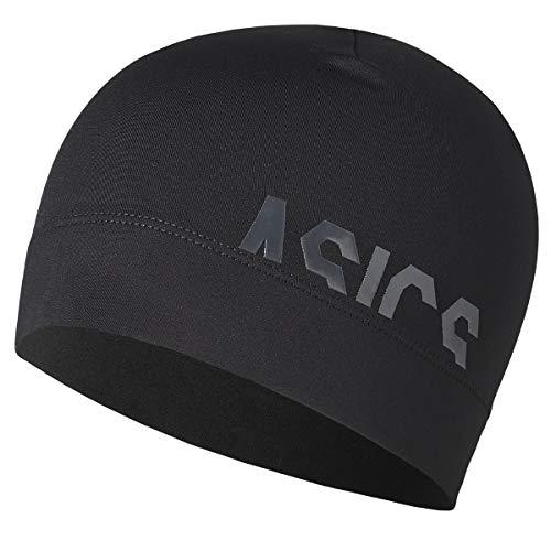 ASICS Herren Logo Beanie Schirmmütze, Schwarz (Black 3013a034-001), (Herstellergröße: One Size)
