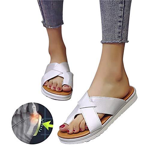 EVR 2020 Nuevas Mujeres Cómodas Plataforma Sandalia Zapatos Romanas Verano Playa Viajes Zapatillas Correctoras Sandalias Moda Sandalias Cómodas Damas Zapatos Plataforma,Plata,36