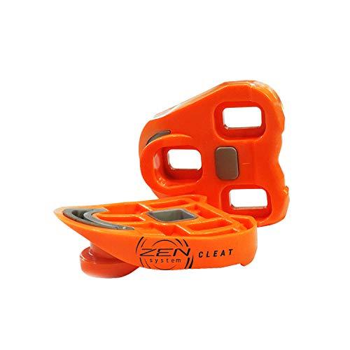 ZENsystem Cleat - Tacchetta per Pedali da Bici da Strada Che Incrementa la Cadenza e la Potenza - Compatibile con Pedali da Corsa Look Keo e Blade