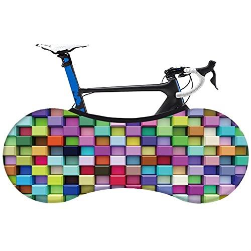 HGDQ Cubierta de Bicicleta Fashion Bicycle Cubierta de Polvo Interior Tela Elástica Non-Fading MTB Bike Bike Protección de neumáticos Cubierta (Color : 07)