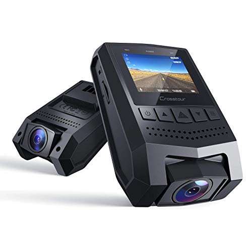 """Crosstour Mini Dash Cam 1080P FHD Car Camera Recorder with 1.5"""" LCD Screen 170°Wide Angle, Parking Mode, Motion Detection, G-Sensor, Loop-Recording and WDR"""