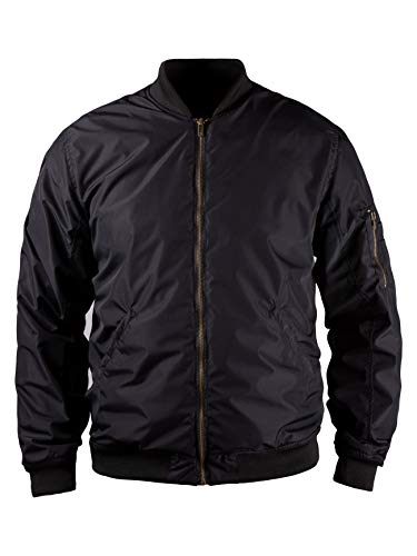 John Doe Flight Jacket XTM - Schwarz | Motorradjacke mit Kevlar | XTM Made with DuPont Kevlar | Einsetzbare Protektoren | Atmungsaktiv | Motorrad Bomberjacke