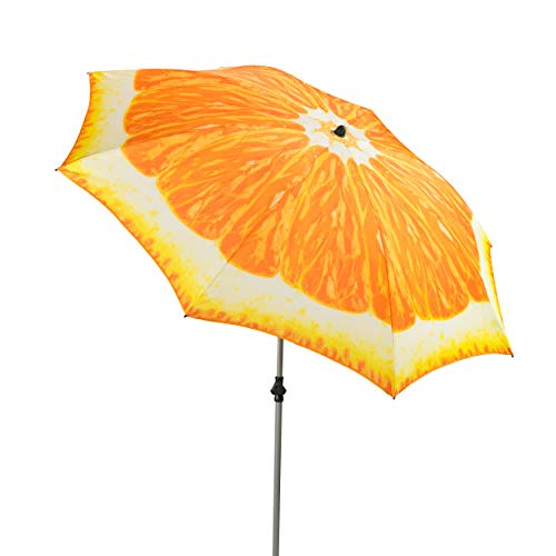 Doppler GS Basic 200 - Sonnenschirm für Balkon oder Garten - Regenabweisend - Knickbar - ca. 200 cm - Orange