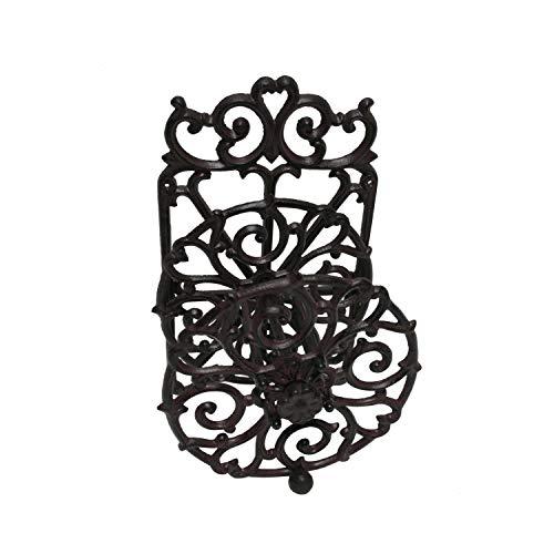 HTI-Line Gartenschlauchhalter Siena Antik Gartendeko Gartenschlauch Halter Schlauchaufroller Vintage Rustikal