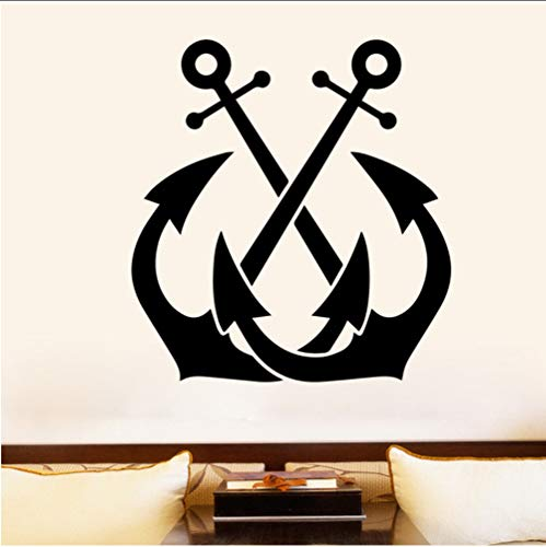 Zlxzlx Indian Features Muursticker voor Jongen Slaapkamer Decoratie Twee Bijl Vinyl Muursticker Home Decor Verwijderbare Art Decal Retro Wallpaper 43 * 46Cm