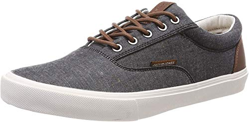 JACK & JONES Herren JFWVISION Classic Chambray ANTHRACI NOOS Sneaker, Grau (Anthracite Anthracite), 43 EU