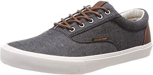 JACK & JONES Herren JFWVISION Classic Chambray ANTHRACI NOOS Sneaker, Grau (Anthracite Anthracite), 45 EU