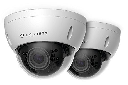 2-Pack Amcrest ProHD Outdoor 3 Megapixel POE Vandal Dome IP Security Camera