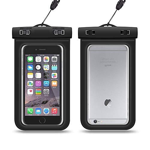 CoverKingz Wasserschutz Hülle für iPhone X/Xr/Xs/5/6/7/8 Plus Galaxy S10/S9/S8/S7/S6 bis 15,5 cm universal wasserdichte Handyhülle Schwarz