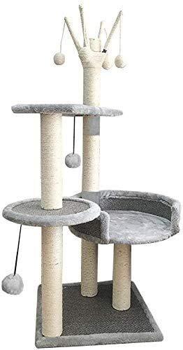Wxxdlooa Asientos de ratán Columpio del Gato, Gato Villa de árbol de la casa Abierta del Gato Gran salón Columna Gato Que Salta de Plataforma de sisal (Size : 40 * 40 * 110cm)