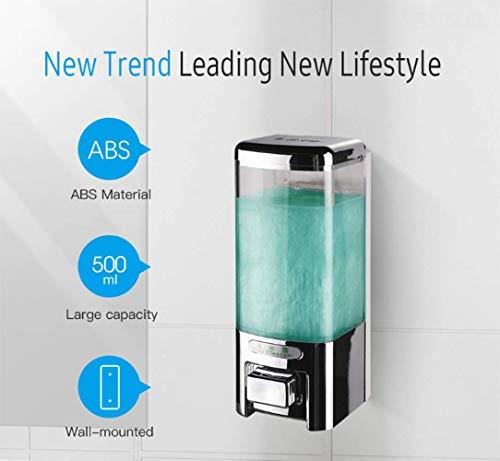 500ml Badkamer Douche Shampoo Hand Lotion dispenser voor vloeibare zeep Wall Mounted Single Manual zeepdispenser